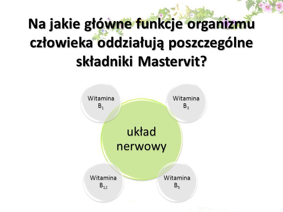 Na jakie główne funkcje organizmu człowieka oddziałują poszczególne składniki Mastervit