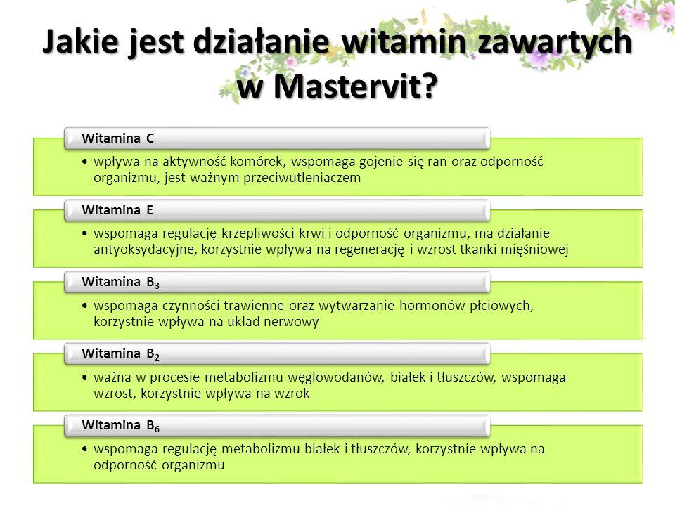Jakie jest działanie witamin zawartych w Mastervit