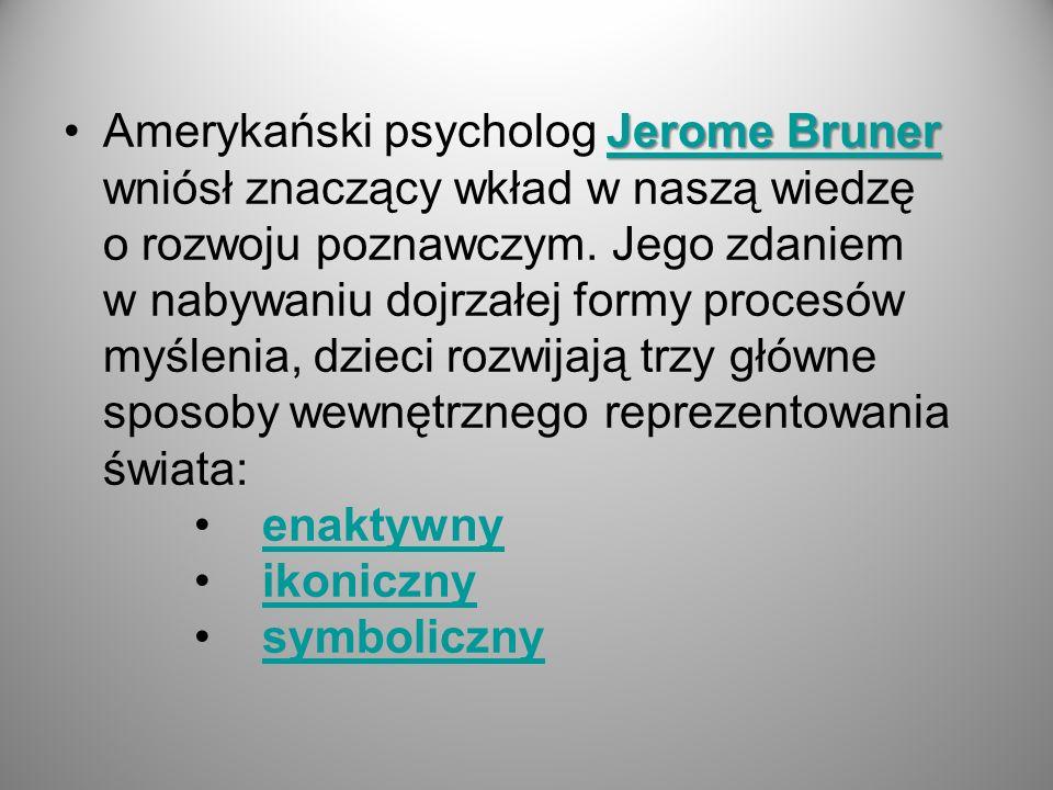 Amerykański psycholog Jerome Bruner wniósł znaczący wkład w naszą wiedzę o rozwoju poznawczym.