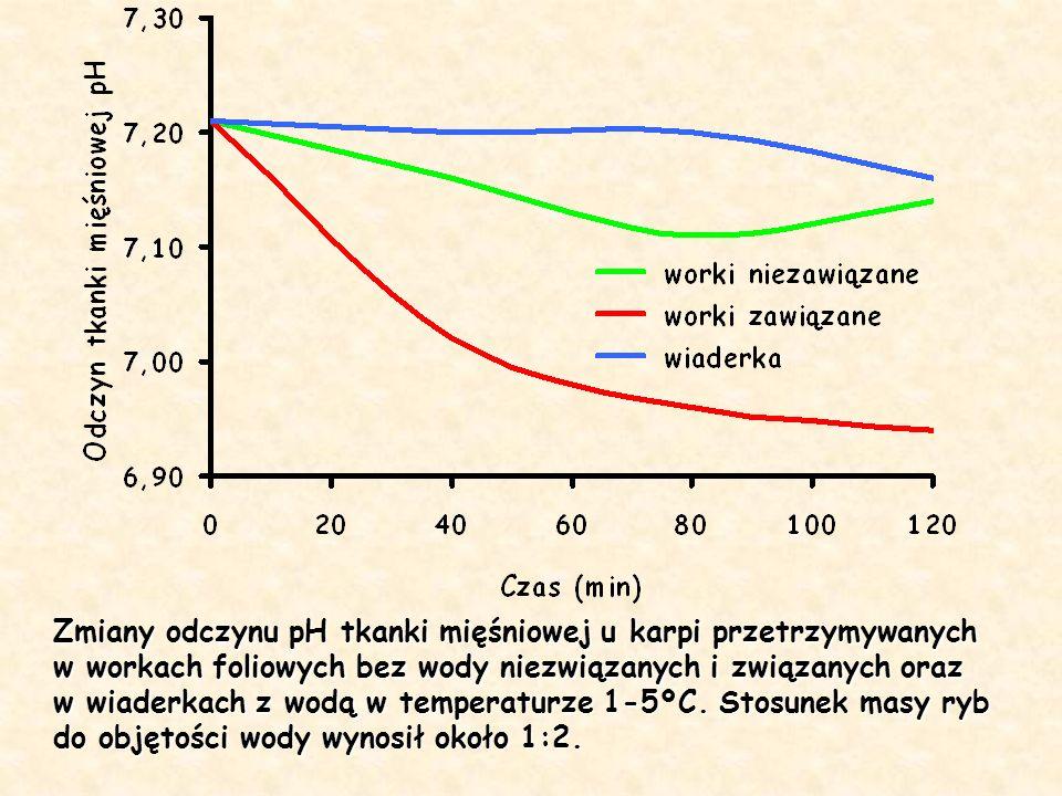 Zmiany odczynu pH tkanki mięśniowej u karpi przetrzymywanych