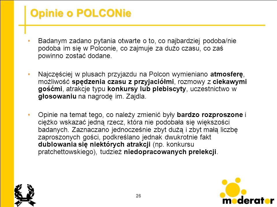 Opinie o POLCONie