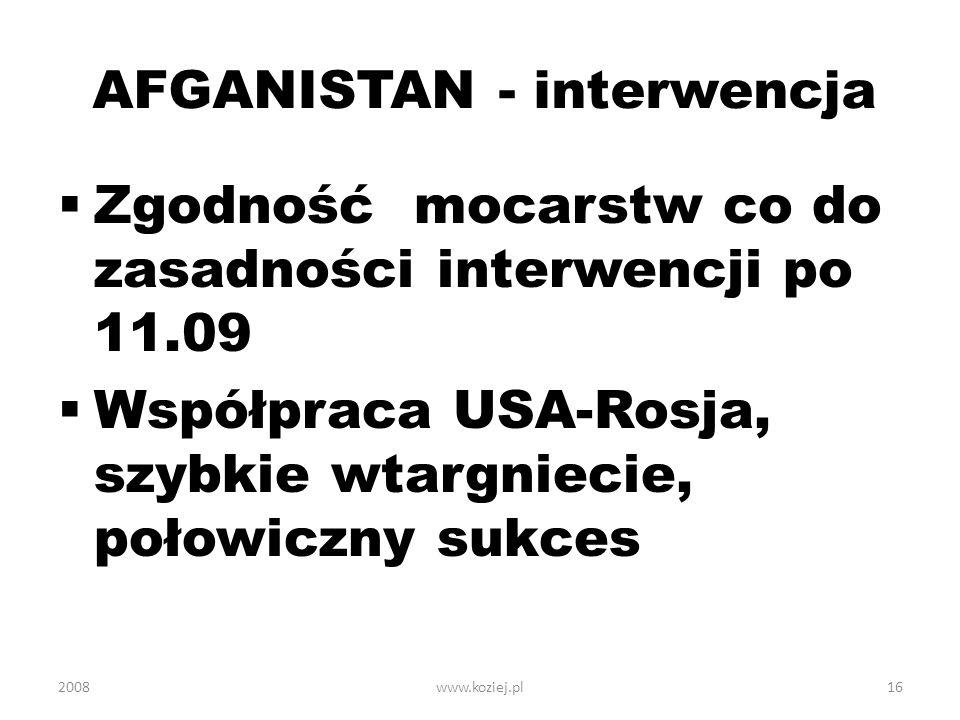 AFGANISTAN - interwencja
