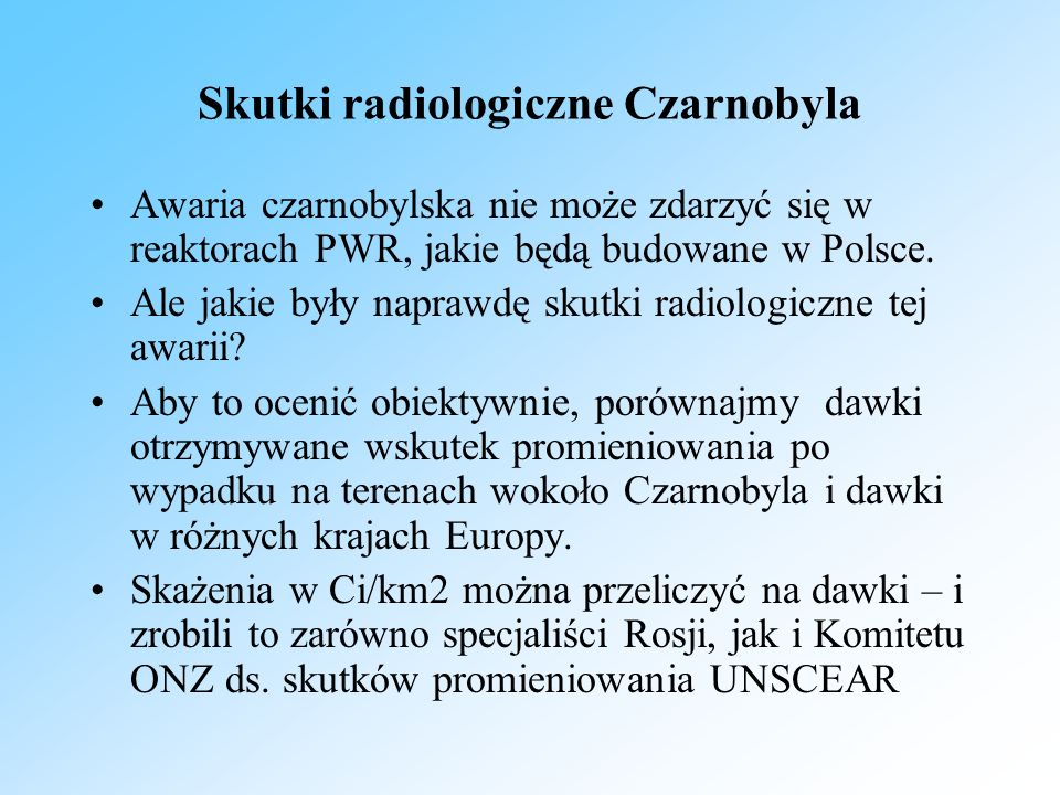 Skutki radiologiczne Czarnobyla