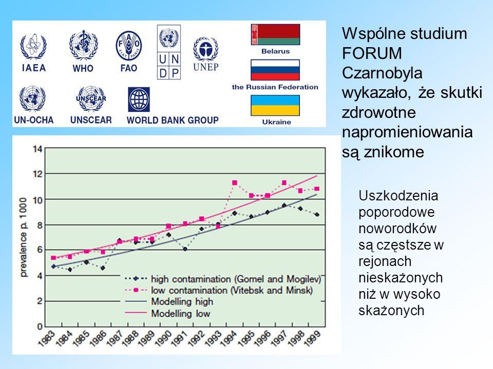 Wspólne studium FORUM Czarnobyla wykazało, że skutki zdrowotne napromieniowania są znikome