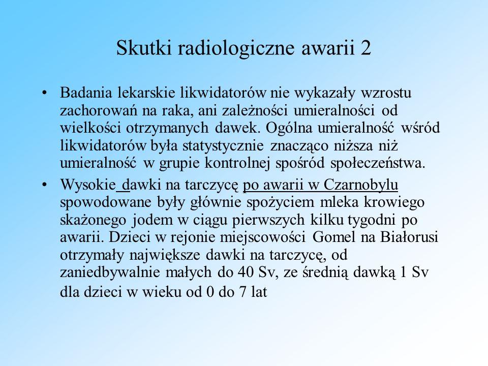Skutki radiologiczne awarii 2