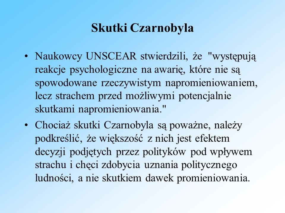 Skutki Czarnobyla