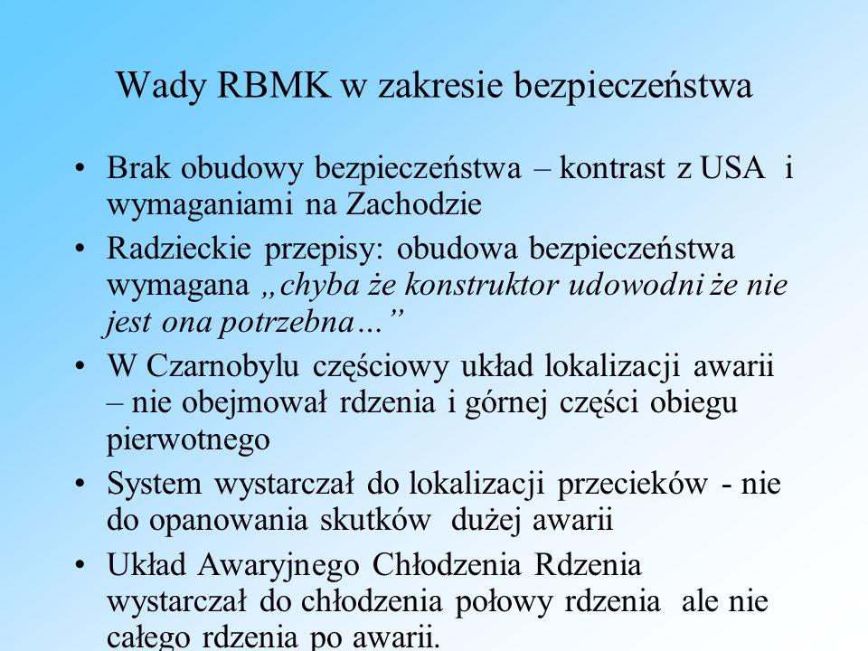 Wady RBMK w zakresie bezpieczeństwa