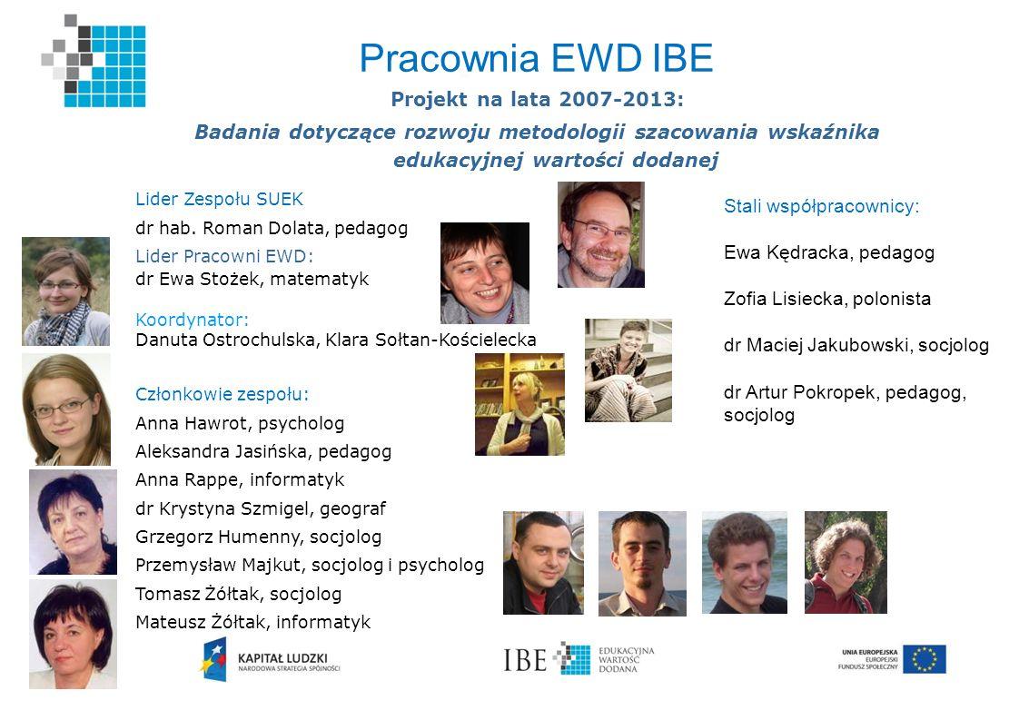 Pracownia EWD IBE Projekt na lata 2007-2013: