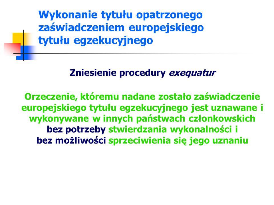 Zniesienie procedury exequatur