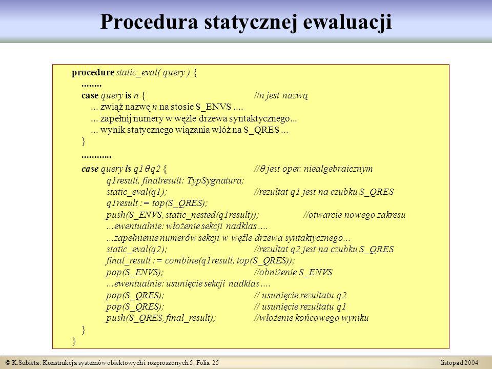 Procedura statycznej ewaluacji