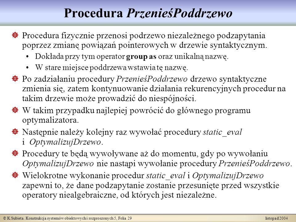 Procedura PrzenieśPoddrzewo