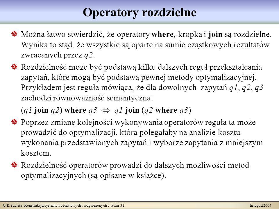 Operatory rozdzielne
