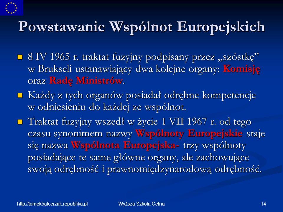 Powstawanie Wspólnot Europejskich