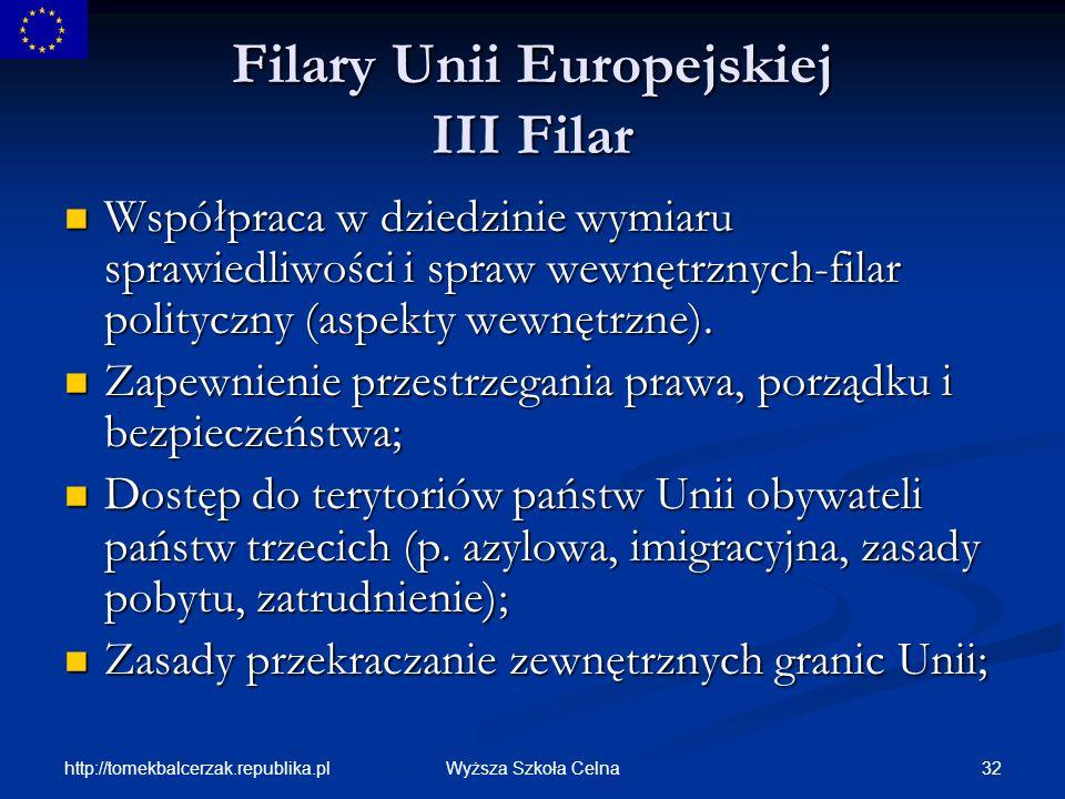 Filary Unii Europejskiej III Filar
