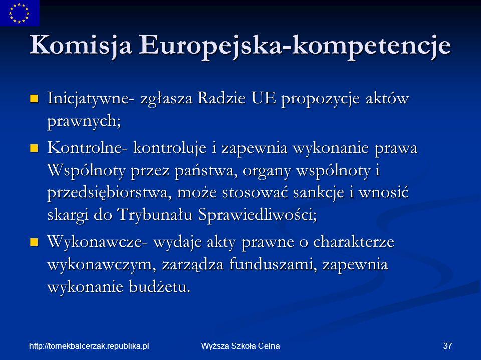 Komisja Europejska-kompetencje