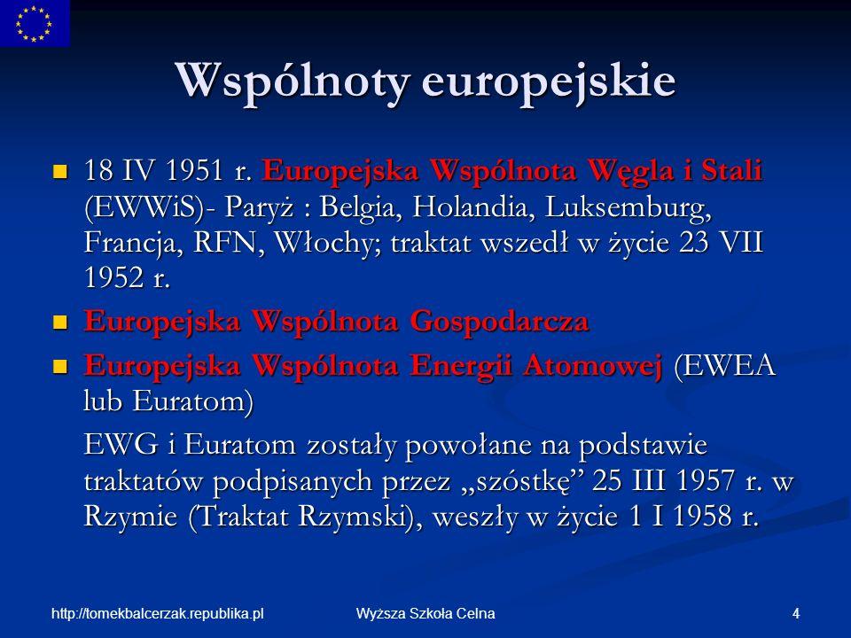 Wspólnoty europejskie