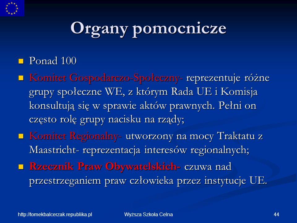 Organy pomocnicze Ponad 100