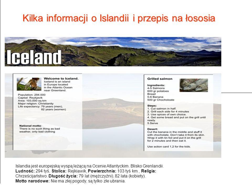 Kilka informacji o Islandii i przepis na łososia