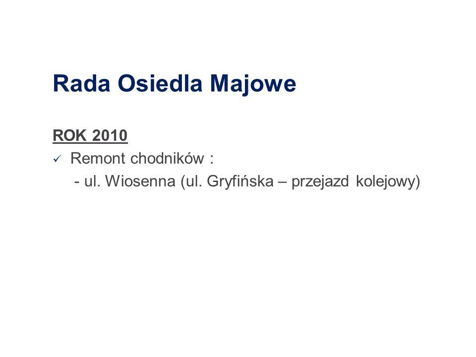 Rada Osiedla Majowe ROK 2010 Remont chodników :