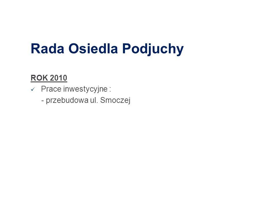 Rada Osiedla Podjuchy ROK 2010 Prace inwestycyjne :