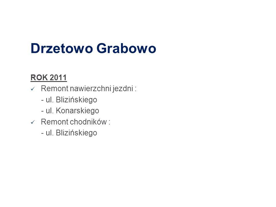 Drzetowo Grabowo ROK 2011 Remont nawierzchni jezdni :