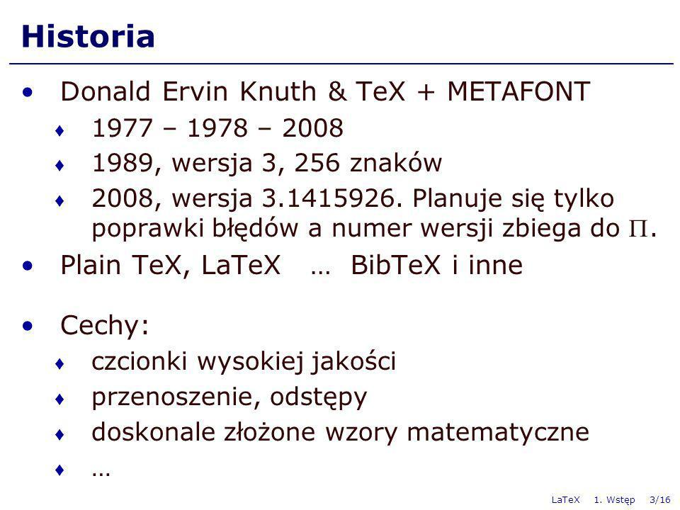 Historia Donald Ervin Knuth & TeX + METAFONT