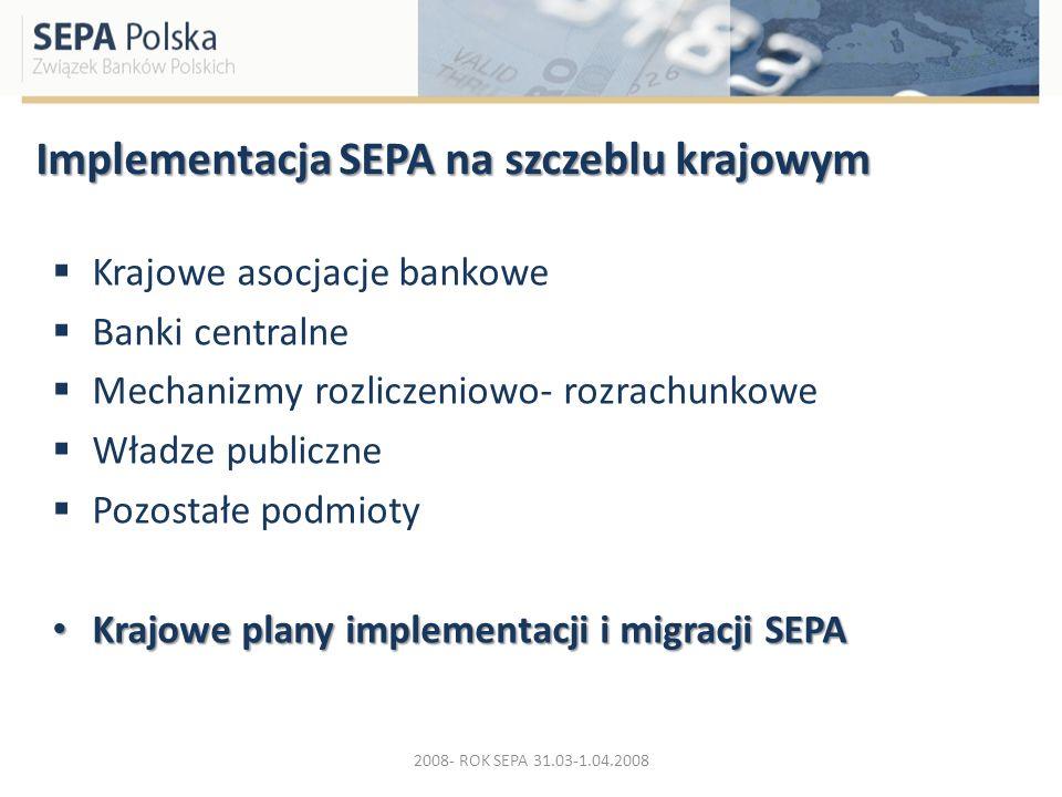 Implementacja SEPA na szczeblu krajowym