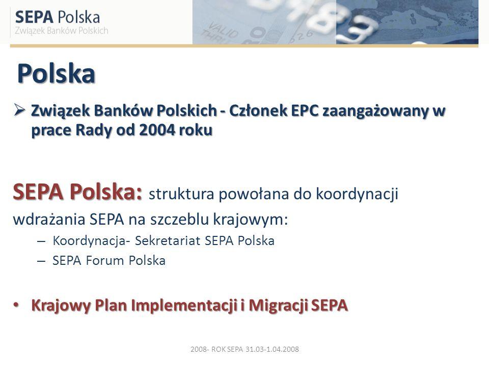 Polska SEPA Polska: struktura powołana do koordynacji