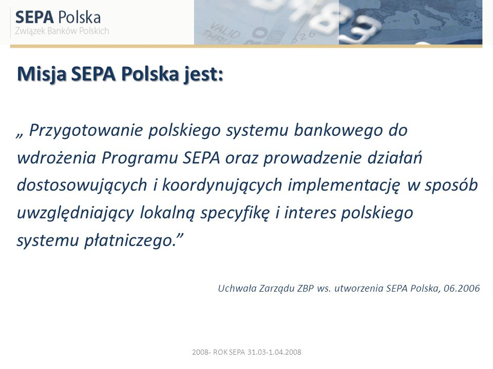 Misja SEPA Polska jest: