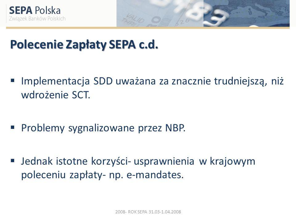 Polecenie Zapłaty SEPA c.d.