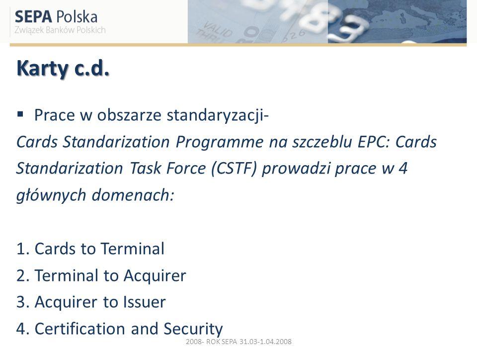 Karty c.d. Prace w obszarze standaryzacji-