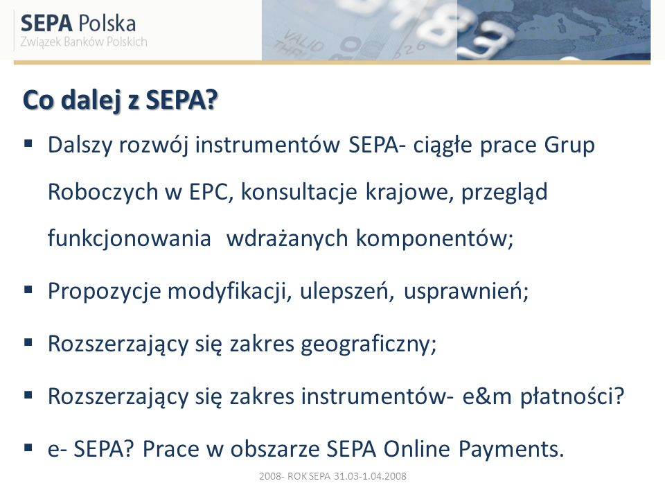 Co dalej z SEPA
