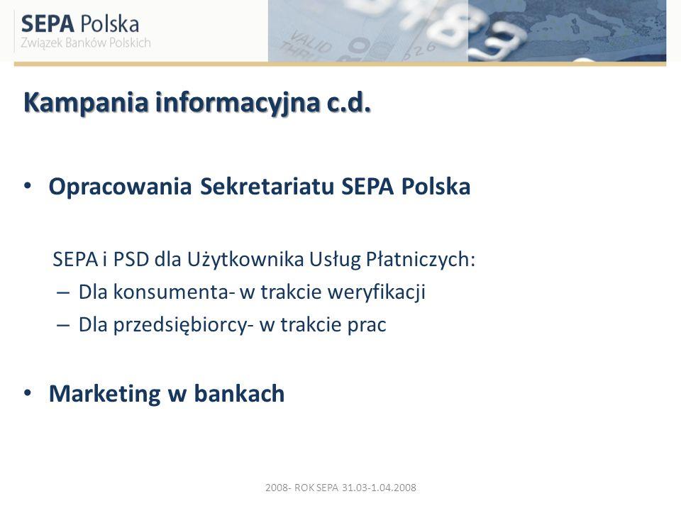 Kampania informacyjna c.d.