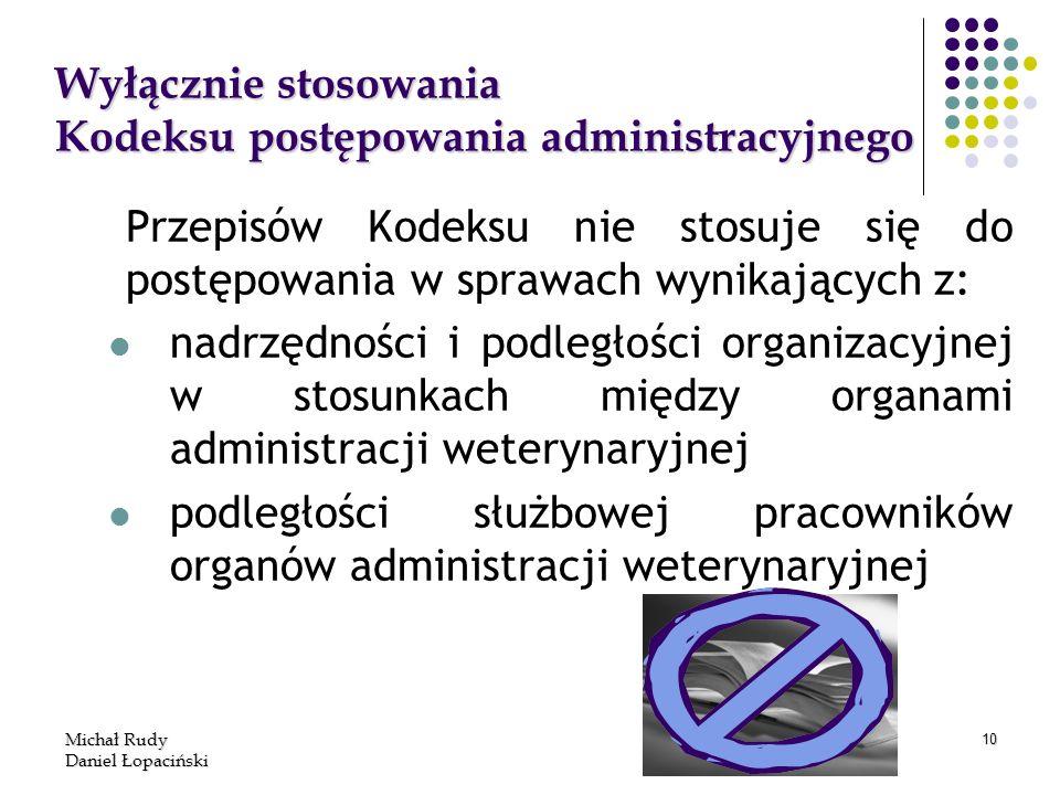 Wyłącznie stosowania Kodeksu postępowania administracyjnego