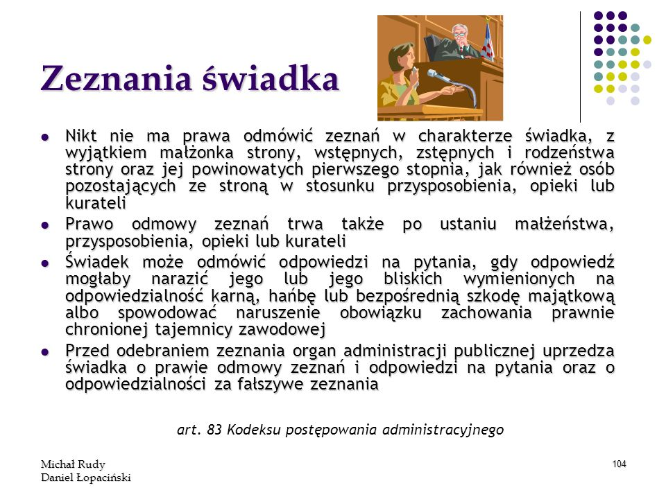 art. 83 Kodeksu postępowania administracyjnego