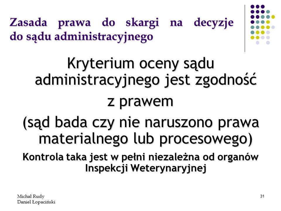 Zasada prawa do skargi na decyzje do sądu administracyjnego