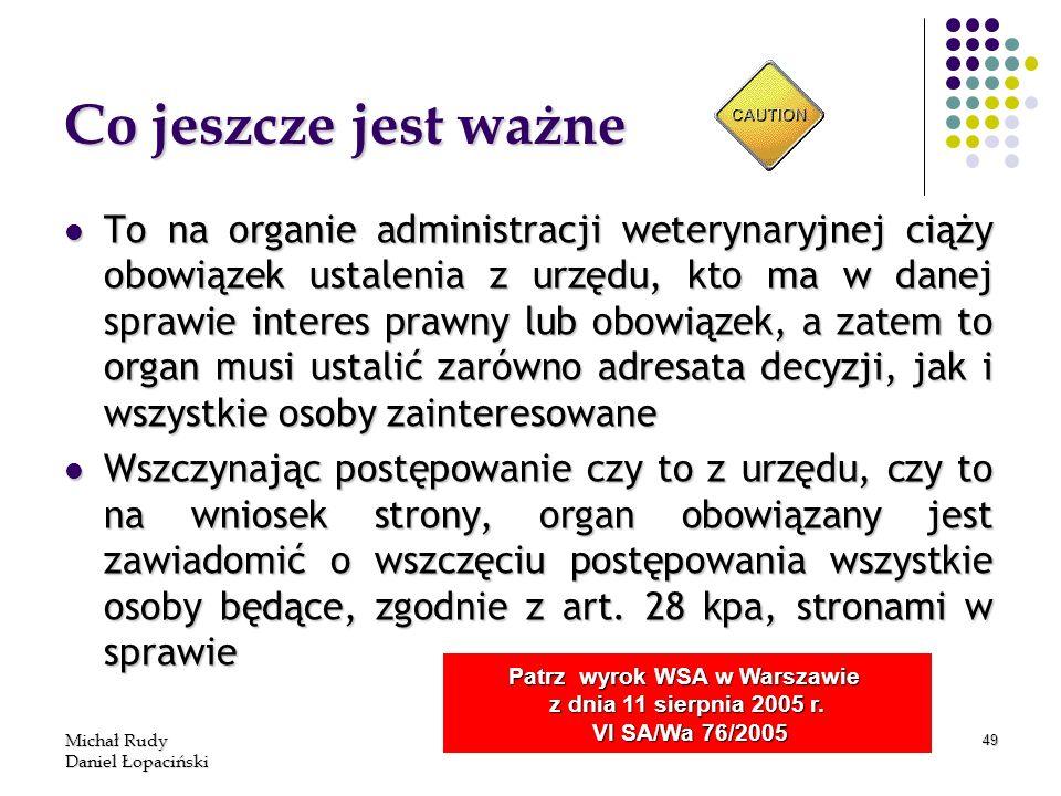 Patrz wyrok WSA w Warszawie