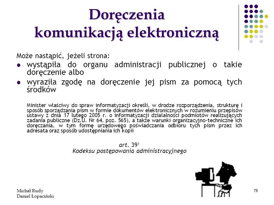 Doręczenia komunikacją elektroniczną