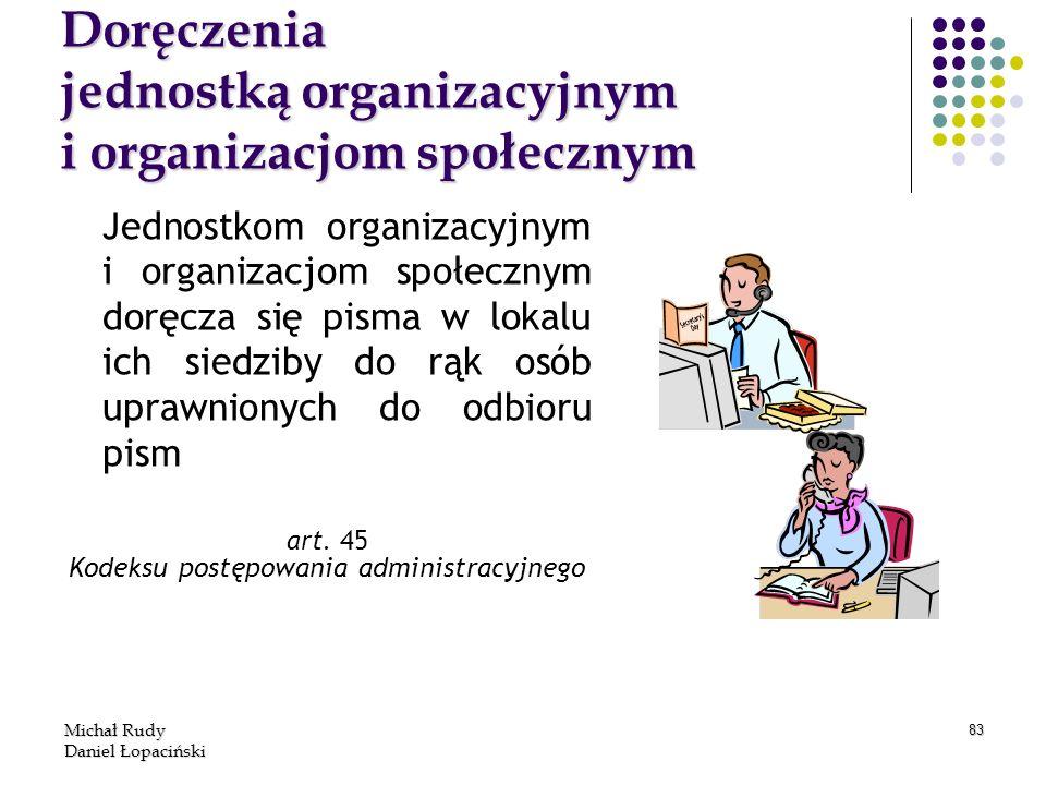 Doręczenia jednostką organizacyjnym i organizacjom społecznym