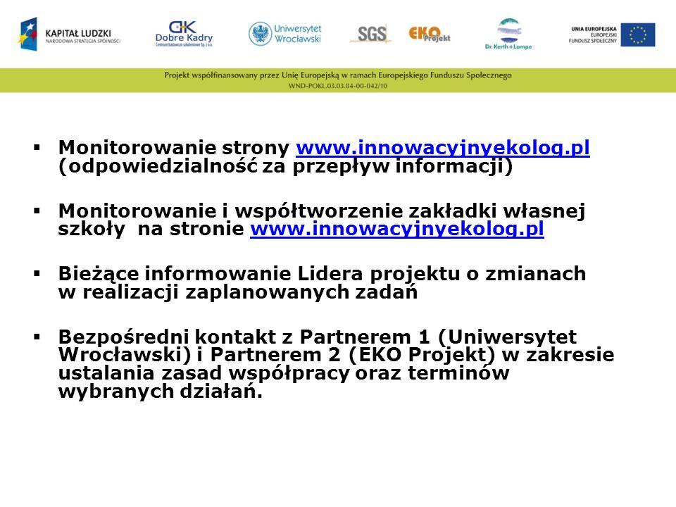 Monitorowanie strony www. innowacyjnyekolog