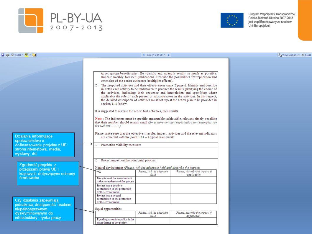 Działania informujące społeczeństwo o dofinansowaniu projektu z UE: strona internetowa, media, wystawy, itd.