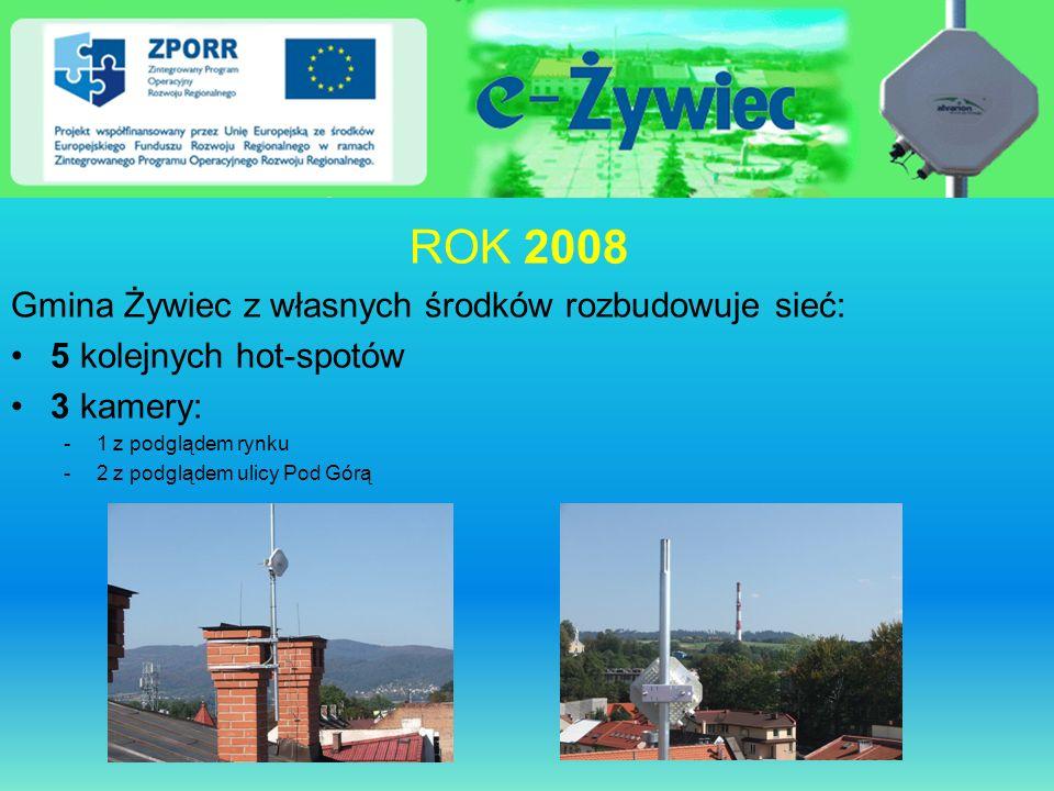 ROK 2008 Gmina Żywiec z własnych środków rozbudowuje sieć: