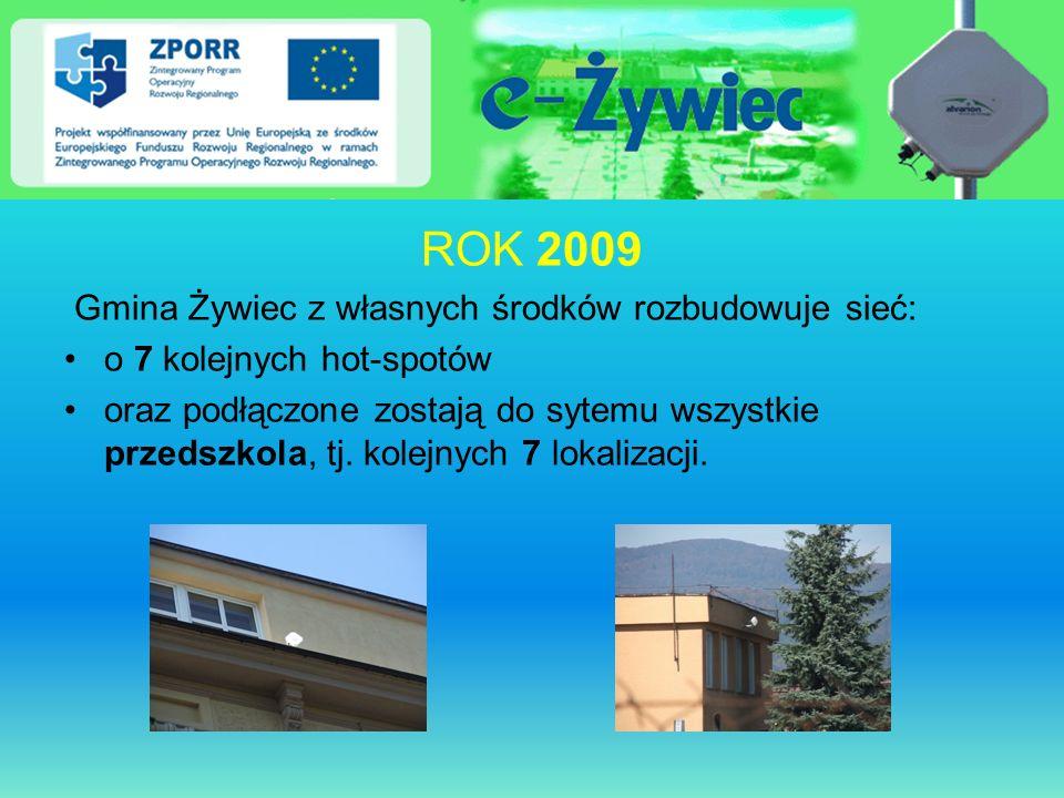 ROK 2009 Gmina Żywiec z własnych środków rozbudowuje sieć: