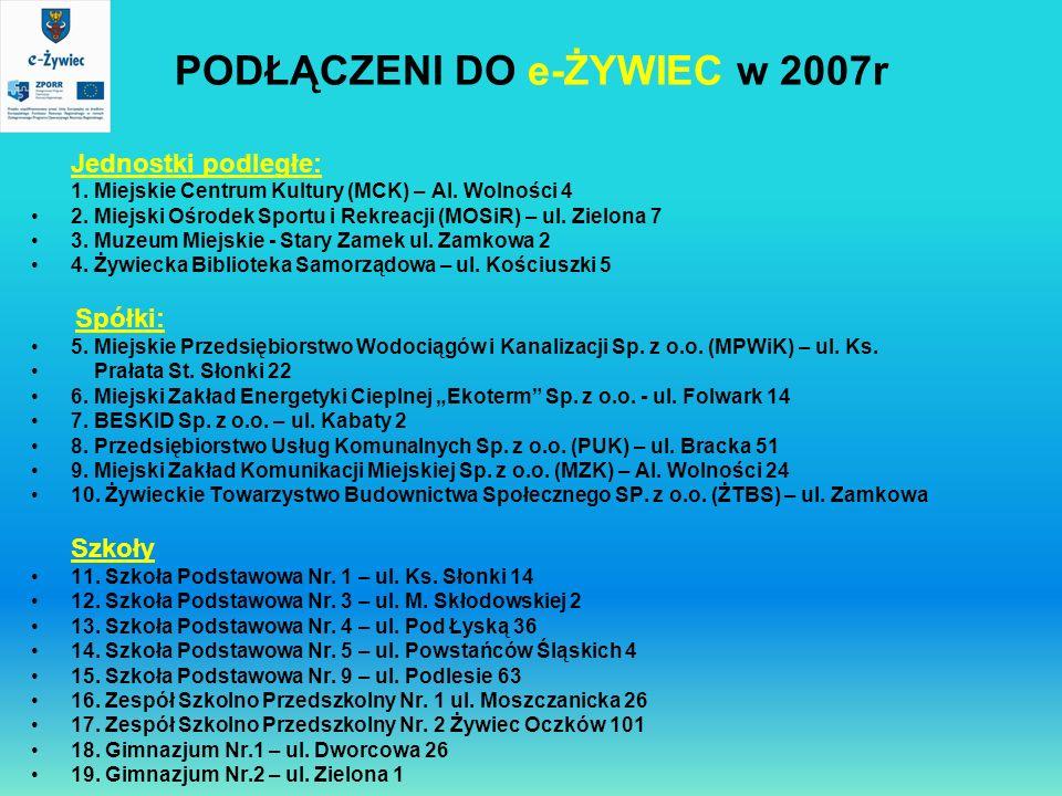 PODŁĄCZENI DO e-ŻYWIEC w 2007r