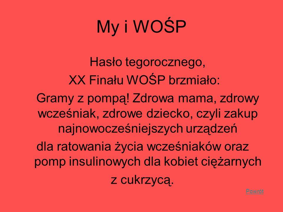 XX Finału WOŚP brzmiało: