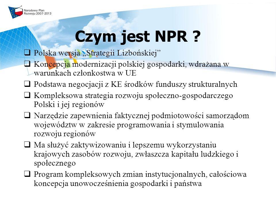 """Czym jest NPR Polska wersja """"Strategii Lizbońskiej"""