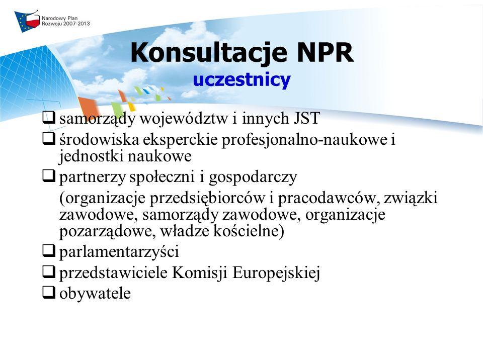 Konsultacje NPR uczestnicy