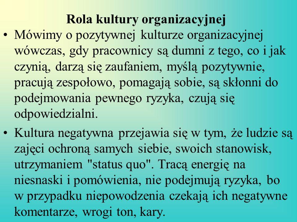 Rola kultury organizacyjnej