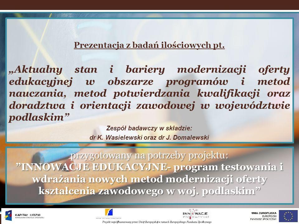 Prezentacja z badań ilościowych pt.