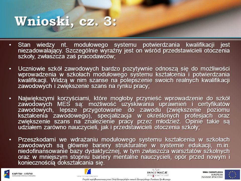 Wnioski, cz. 3: